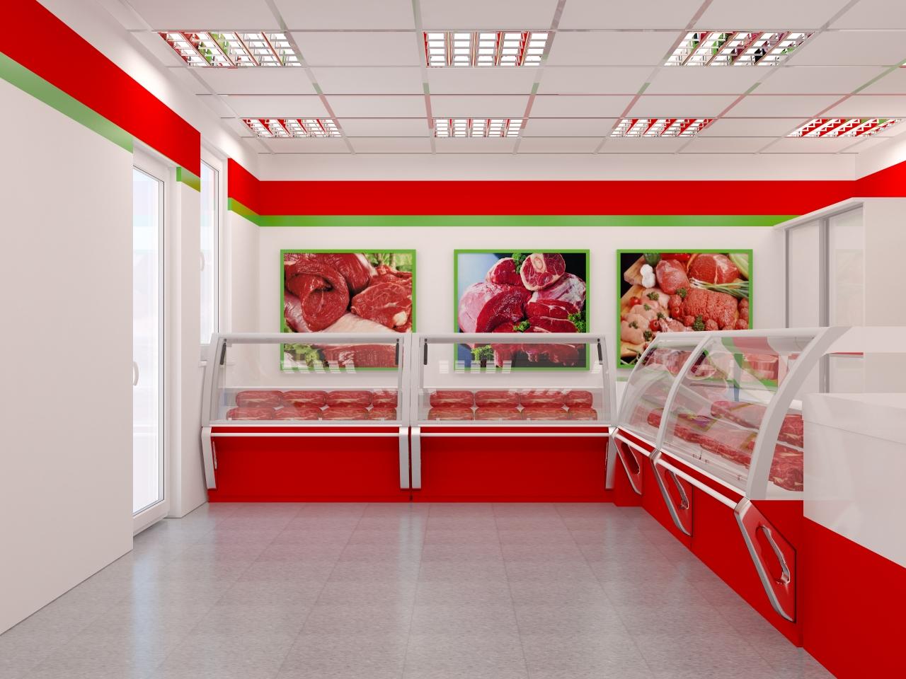 Мясной магазин интерьер фото